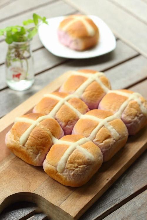 Bột khoai lang tím - Cách làm bánh mì khoai lang tím cực đơn giản