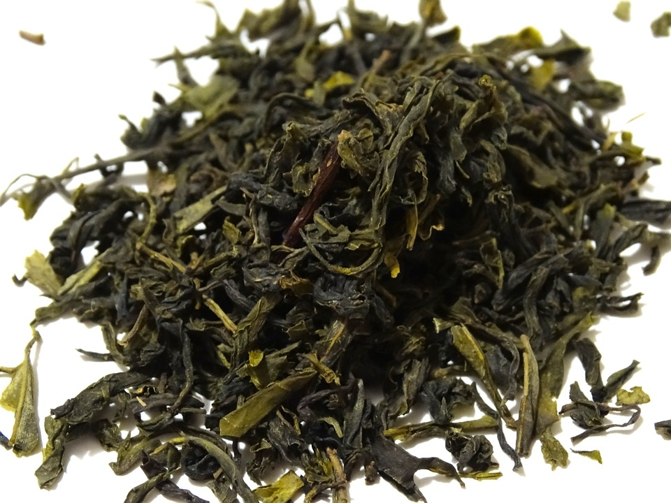 Lá trà xanh sấy khô